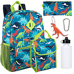 6-In-1 Backpack Set, Dinosaurs