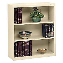 Tennsco Metal 3 Shelf Bookcase Putty