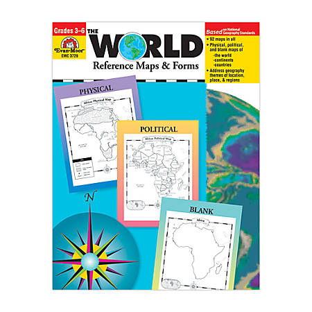 Evan-Moor® The World, Reference Maps And Forms, Grades 3-6