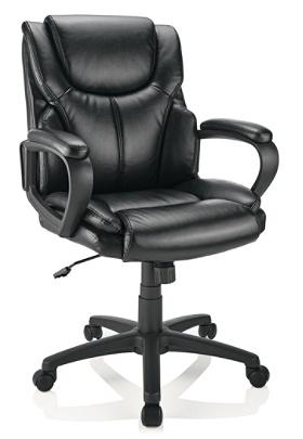 Strange Brenton Studio Mayhart Vinyl Mid Back Chair Black Item 5242953 Pabps2019 Chair Design Images Pabps2019Com