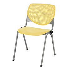 KFI Studios KOOL Stacking Chair YellowSilver