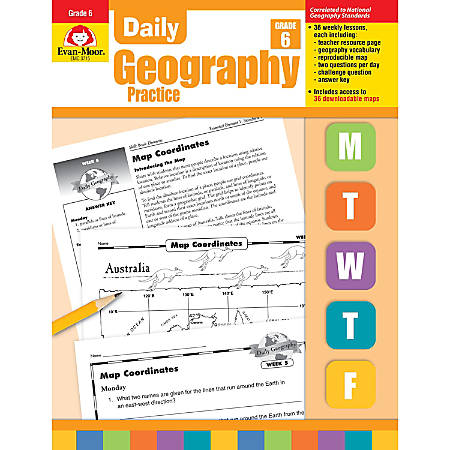 Evan-Moor® Daily Geography Practice, Grade 6