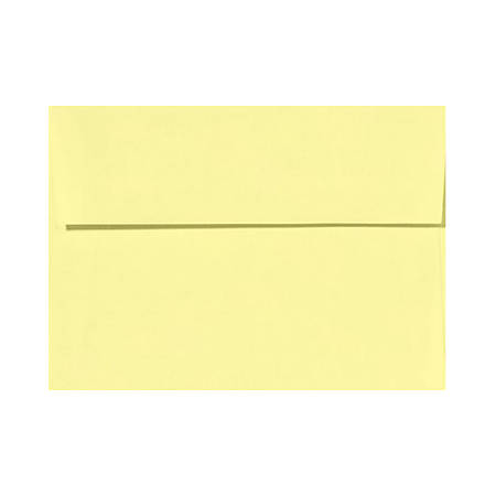 """LUX Invitation Envelopes With Peel & Press Closure, A2, 4 3/8"""" x 5 3/4"""", Lemonade Yellow, Pack Of 1,000"""