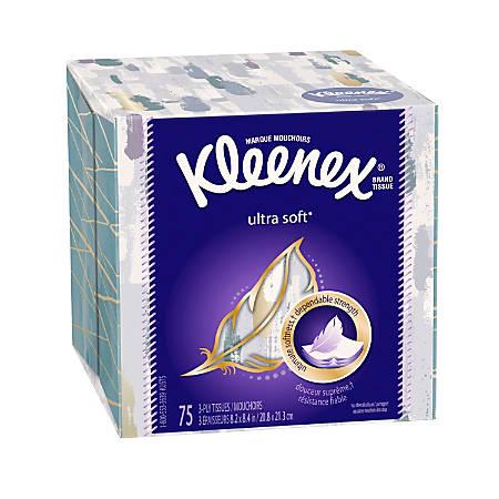 Kleenex® Ultra Facial Tissue Upright, White, 75 Tissues Per Box, Case Of 27 Boxes