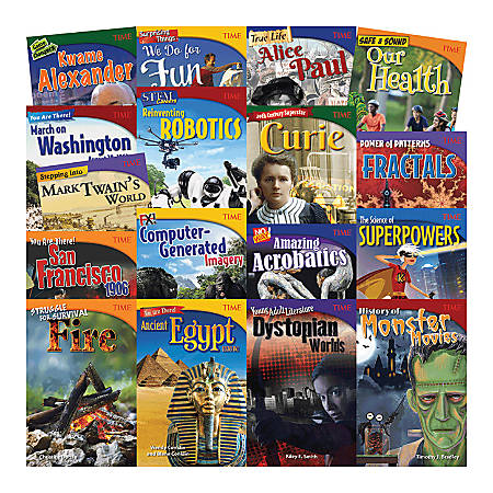 Teacher Created Materials TIME 17-Book Set, Set 3, Grades 6 - 8