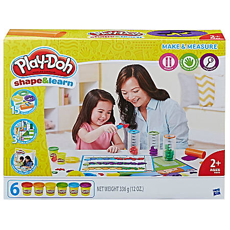 Play-Doh® Education Shape And Learn Make And Measure Set, Assorted Colors, Case Of 4 Sets