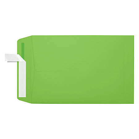 "LUX Open-End Envelopes With Peel & Press Closure, #6 1/2, 6"" x 9"", Limelight, Pack Of 1,000"