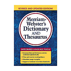 Merriam Websters Dictionary And Thesaurus Trade