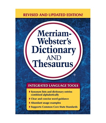 Merriam websters dictionary and thesaurus trade paperback by office depot officemax