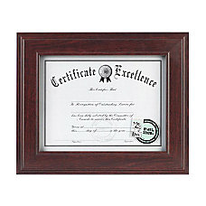 DAX Executive Mahogany Document Frame Holds