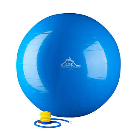 Black Mountain Products 2000 lb Static Strength Stability Ball With Pump, 55cm, Blue