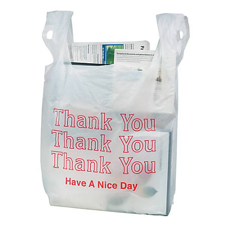"""Office Depot® Brand """"Thank You"""" Bags, Box Of 150"""