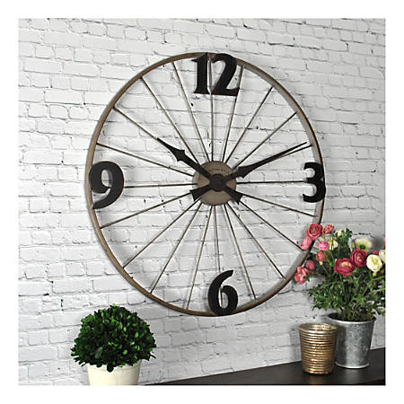 FirsTime & Co.® Bicycle Wheel Round Wall Clock, Iron