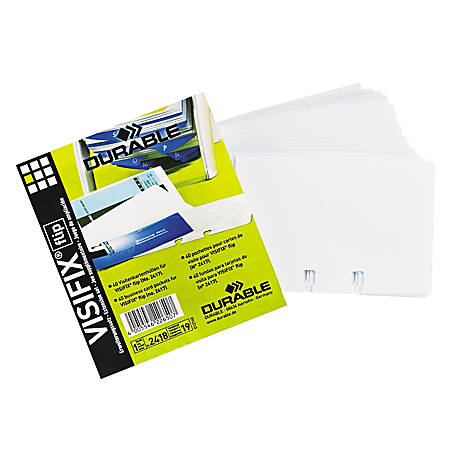 VISIFIX® Business Card Pocket Refills, Pack Of 80