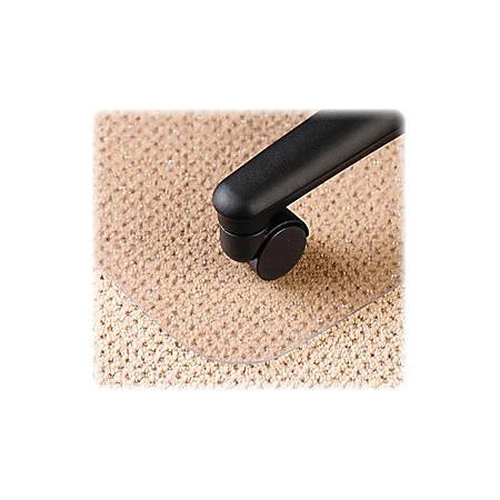 EconoMat No Bevel Chair Mat for Low Pile Carpet, 36w x 48h, Clear