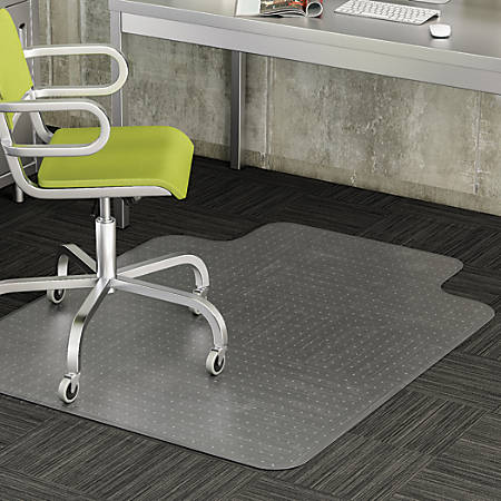 "Deflecto® DuraMat Chair Mat For Low-Pile Carpet, Standard Lip, 36""W x 48""D, Clear"