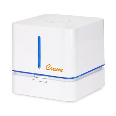 "Crane Personal Travel Cool Mist 0.5 GallonHumidifier, 6 3/8""H x 6 3/8""W x 6 3/16""D, Cube"