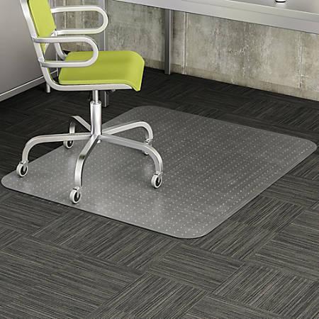 """Deflect-O® DuraMat Chair Mat For Low-Pile Carpet, Rectangular, 46""""W x 60""""D, Clear"""