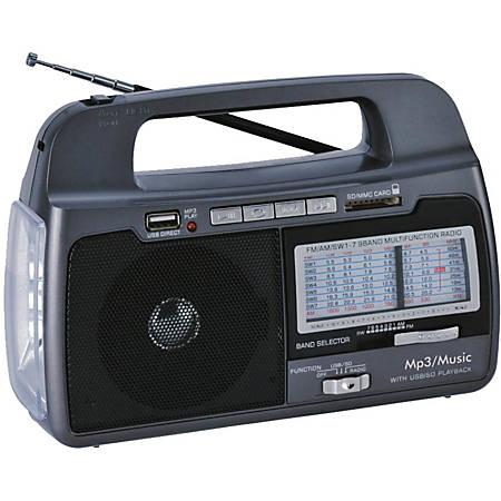 Supersonic 9 Band AM/FM/SW1-7 Portable Radio - 3 x D
