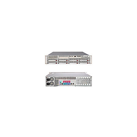 Supermicro A+ Server 2021M-82R+V Barebone System - nVIDIA MCP55 Pro - Socket F (1207) - Opteron (Dual-core), Opteron (Quad-core) - 1000MHz Bus Speed - 64GB Memory Support - DVD-Reader (DVD-ROM) - Gigabit Ethernet - 2U Rack