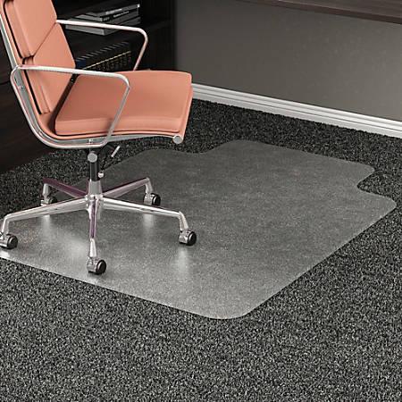 "Deflect-O RollaMat Chair Mat For Medium-Pile Carpeting, Rectangular, 45""W x 53""D, Clear"