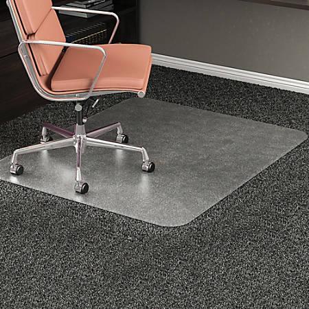 "Deflect-O RollaMat Chair Mat For Medium-Pile Carpeting, Rectangular, 46""W x 60""D, Clear"