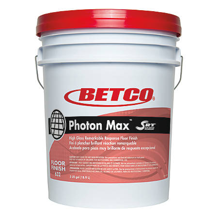 Betco® Photon Max With SRT Floor Finish, Unscented, 5 Gallons