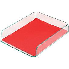 deflecto Glasstique Letter Size Desk Tray