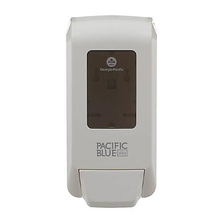 "Pacific Blue Ultra™ by GP Pro Manual Soap Dispenser, 12 1/8""H x 6 3/16""W x 5 1/16""D, White"