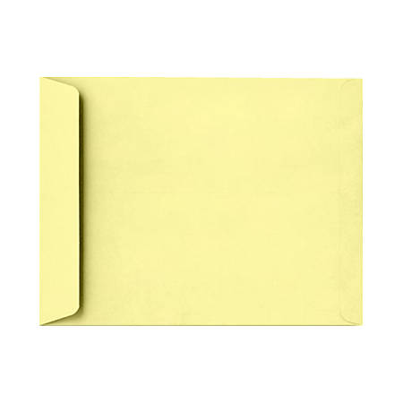 """LUX Open-End Envelopes With Peel & Press Closure, 10"""" x 13"""", Lemonade Yellow, Pack Of 1,000"""