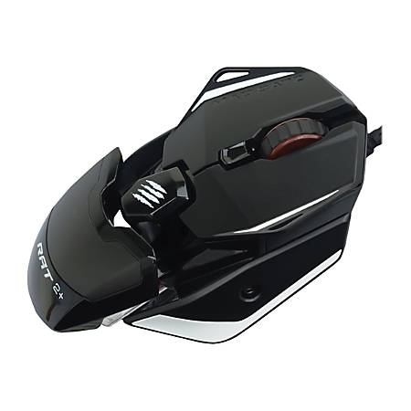 Mad Catz The Authentic R.A.T. 2+ - Mouse - optical - 3 buttons - wired - USB - black