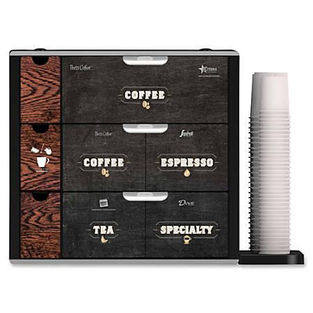 Mars Drinks Coffee Shop Merchandiser - Counter - Black - Plastic, Rubber - 1Each