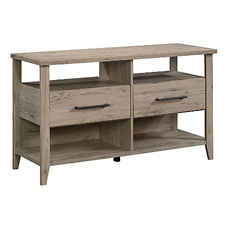 "Sauder® Summit Station Accent Table TV Stand For 50"" TVs, 26-7/8""H x 46-5/8""W x 17-1/8""D, Laurel Oak"
