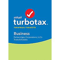TurboTax Business Federal E File 2017
