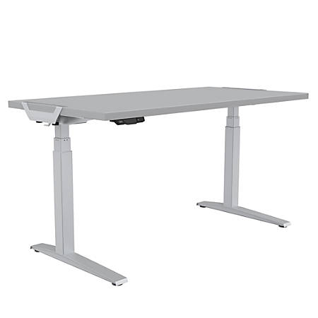 "Fellowes® Levado Height-Adjustable Desk, 72""W, Gray"