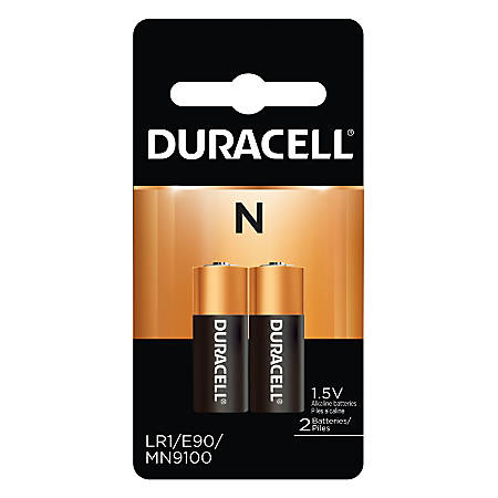 Duracell® Coppertop 1.5 Volt Alkaline N Batteries, Pack Of 2