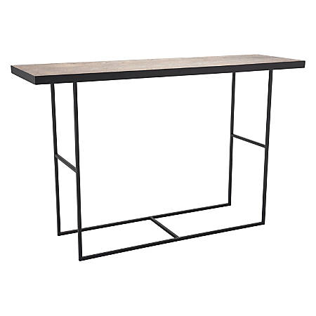 Zuo Modern Forest Console Table, Rectangle, Distressed Natural/Black