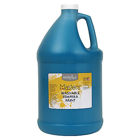 Handy Art Little Masters Washable Tempera Paint Gallon - 1 gal - 1 Each - Turquoise