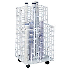 Safco Wire Roll File 4 Compartments