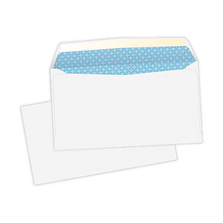 """Quality Park® Security Business Envelopes, #6, 3 5/8"""" x 6 1/2"""", White, Box Of 500"""