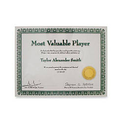 Advantus Panel Wall Acrylic Certificate Holder