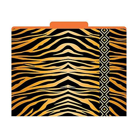 "Barker Creek Tab File Folders, 8 1/2"" x 11"", Letter Size, Tiger, Pack Of 12"