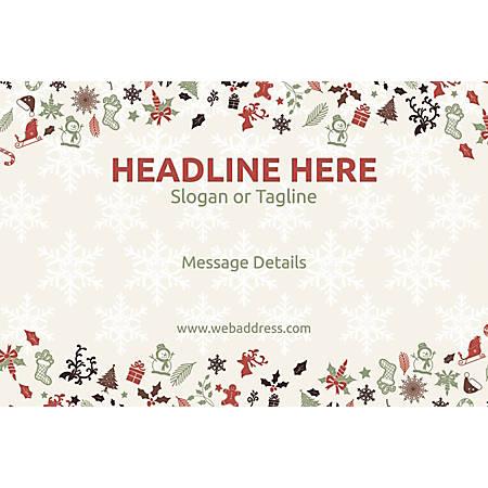 Custom Poster, Christmas Elements, Horizontal