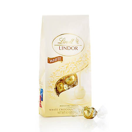 Lindor Chocolate Truffles, White Chocolate, 8.5 Oz, Pack Of 2 Bags