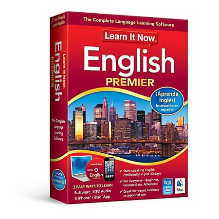 Learn It Now™ English Premier - Mac, Download Version