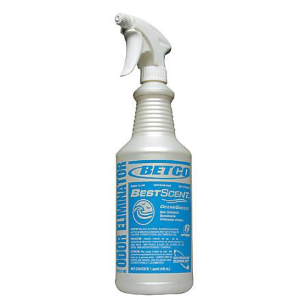 Betco® Best Scent Ocean Breeze Spray Bottles, 32 Oz., Pearlized, Case Of 12