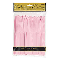 Amscan Premium Plastic Knives 8 Blush