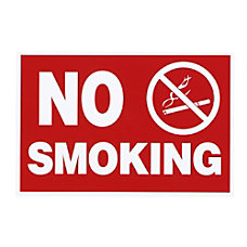 Advantus No Smoking Wall Sign 12
