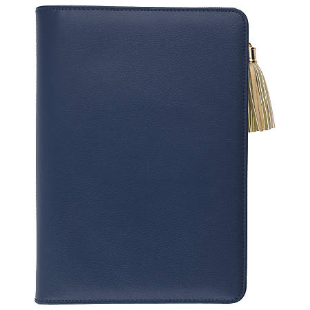 "AT-A-GLANCE® Pebble Weekly/Monthly Ringed Planner, 5 1/2"" x 8 1/2"", Navy, January to December 2019"