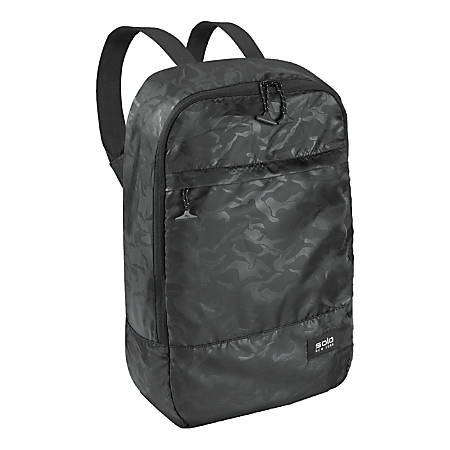 Solo® Packable Backpack, Black Camo